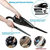 Wietus 12V/85W,3.0KPA Suction Car Vacuum Cleaner,Portable Wet/Dry Handheld Auto Car Vacuum Cleaner With 13.2Foot(4M) Cord,Blow Cleaner and Vacuum Cleaner Function, Put 5-in-1 Vacuum Mouths to Vacuum the Hair&Wool Fabric&Water with One Carry Bag(P/N:6131CVC) (CA 6131CVC)