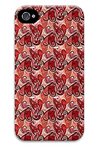 Simply Case Designs Red Seamless Paisley Pattern Design Hard Case for iphone 4/4s