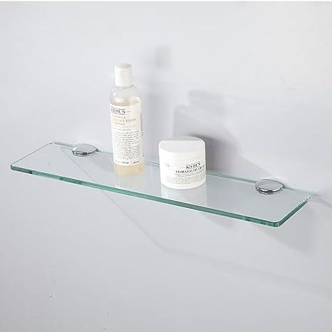 Badezimmer Regal Badezimmer Racks Badezimmer Hardware Paletten Gehartetes Glas Einschicht Platten Bad Wc Plakate Badezimmer Regale Grosse 80cm Amazon De Kuche Haushalt