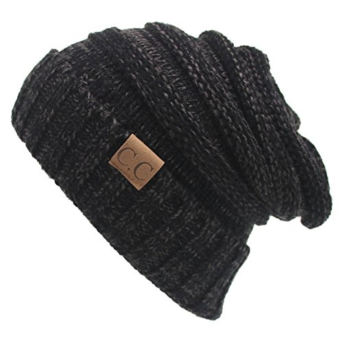 - AIJIAO Winter Hats Women Cap Crochet Knit Thermal Slouchy Beanie Hat (Charcoal)
