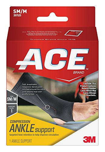 ANKLE SUPPORT NEOPRENE BLEND BLACK - 6