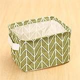 DTGTHDAS Cotton Hand Junk Basket Cabinet Desk Box Cloth Storage Basket Green