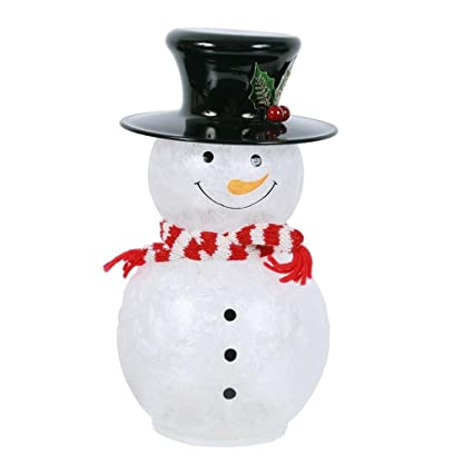 Amazon Com Dei Led Glass Snowman Decor Lg Home Kitchen