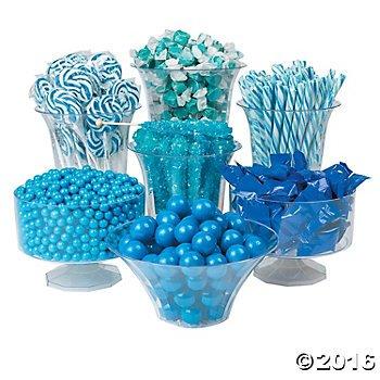 Blue Candy Buffet Assortment by orientaltrading