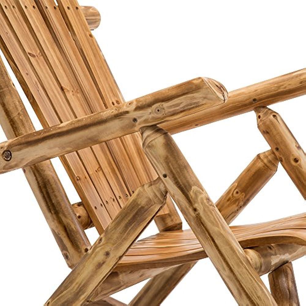 Details about Antique Wood Outdoor Rocking Log Chair Wooden Porch Rustic  Rocker Kitchen &