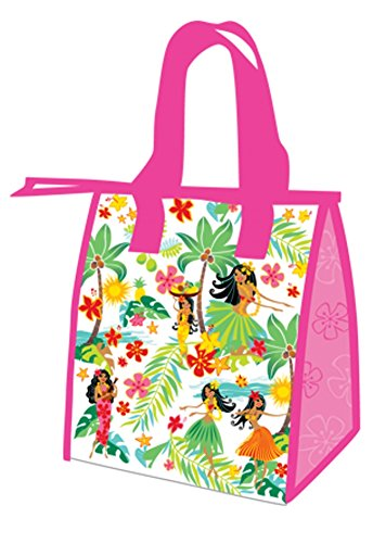 Hawaiian Island Hula Honeys Pink Small Insulated Reusable Lunch Bag (Hula Island Honeys)