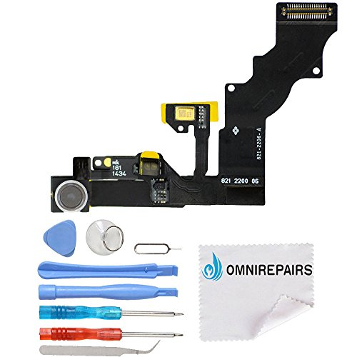 Omnirepairs-For iPhone 6 Plus 5.5'' A1522, A1524, A1593 Front Camera Proximity Light Sensor Cable Ribbon Assembly Replacement + - Cable Camera Ribbon
