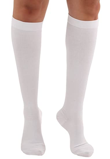 6a19285c527 Made in the USA - Graduated Cotton Compression Socks - Unisex Firm Support  20-30mmHg