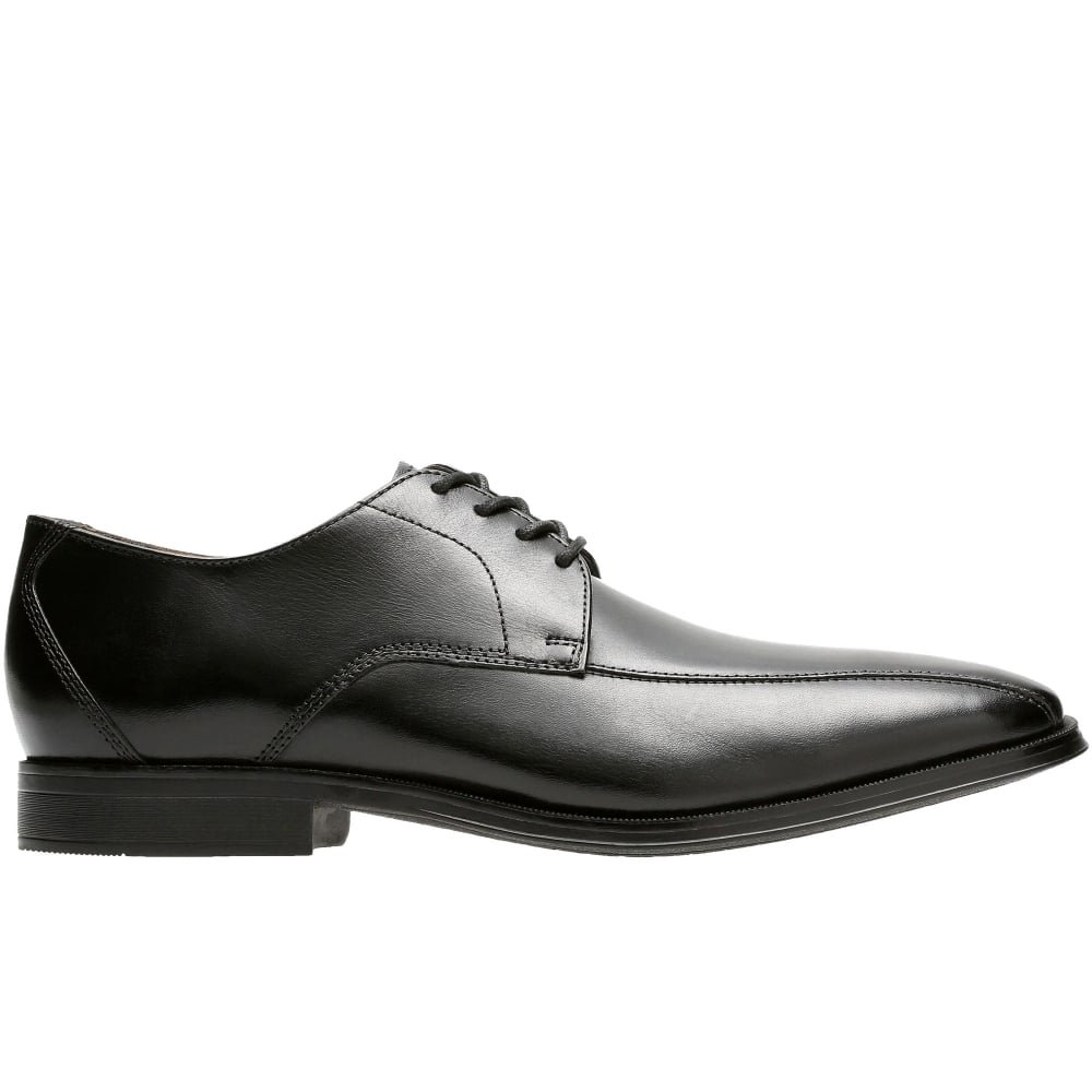 Clarks Gilman Mode Mens Cuir Large Derby Chaussures Lacées