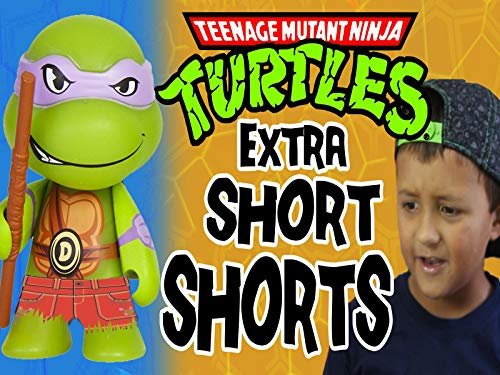 Tmnt Extra Short Shorts With Kidrobot Blind Boxes of Teenage Mutant Ninja Turtles Skit (Teenage Mutant Ninja Turtles Vs Foot Clan)