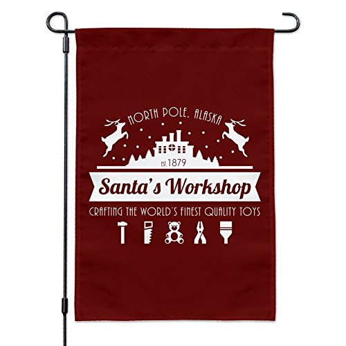 Graphics and More Santa's Workshop Logo Christmas Toys North
