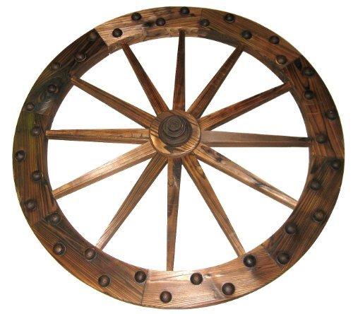 Leigh Country TX93759 Deluxe Wooden Wagon Wheel, 36