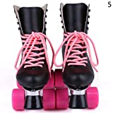 Gracefulvara Adult Crobatic Roller Skating Shoes Double Row Roller Skating Shoes