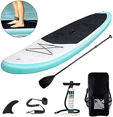Triclicks Tabla Hinchable Paddle Surf/Sup Paddel Surf Rojo/Negro con Bomba, Mochila, Aleta Central Desprendible, Kit de Reparación, Remo Ajustable, La ...