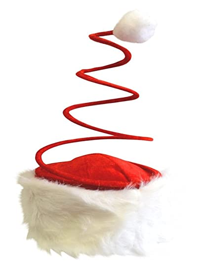 bc1a9be2620a9 Amazon.com  Santa Hat with Coil Spring  Clothing