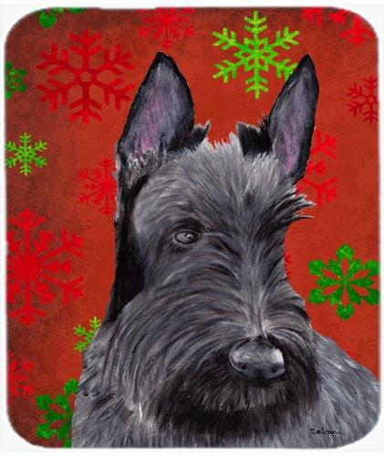 Caroline's Treasures Mouse/Hot Pad/Trivet, Scottish Terrier Red Green Snowflakes Christmas (Scottish Christmas Green)