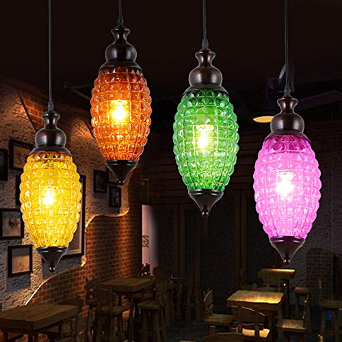 Pink Drum Pendant Lighting