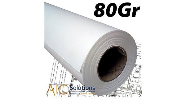 Rollos papel localizador blanco CAD 80 gr A0 0,914 x 50 m (cartón de 4): Amazon.es: Oficina y papelería