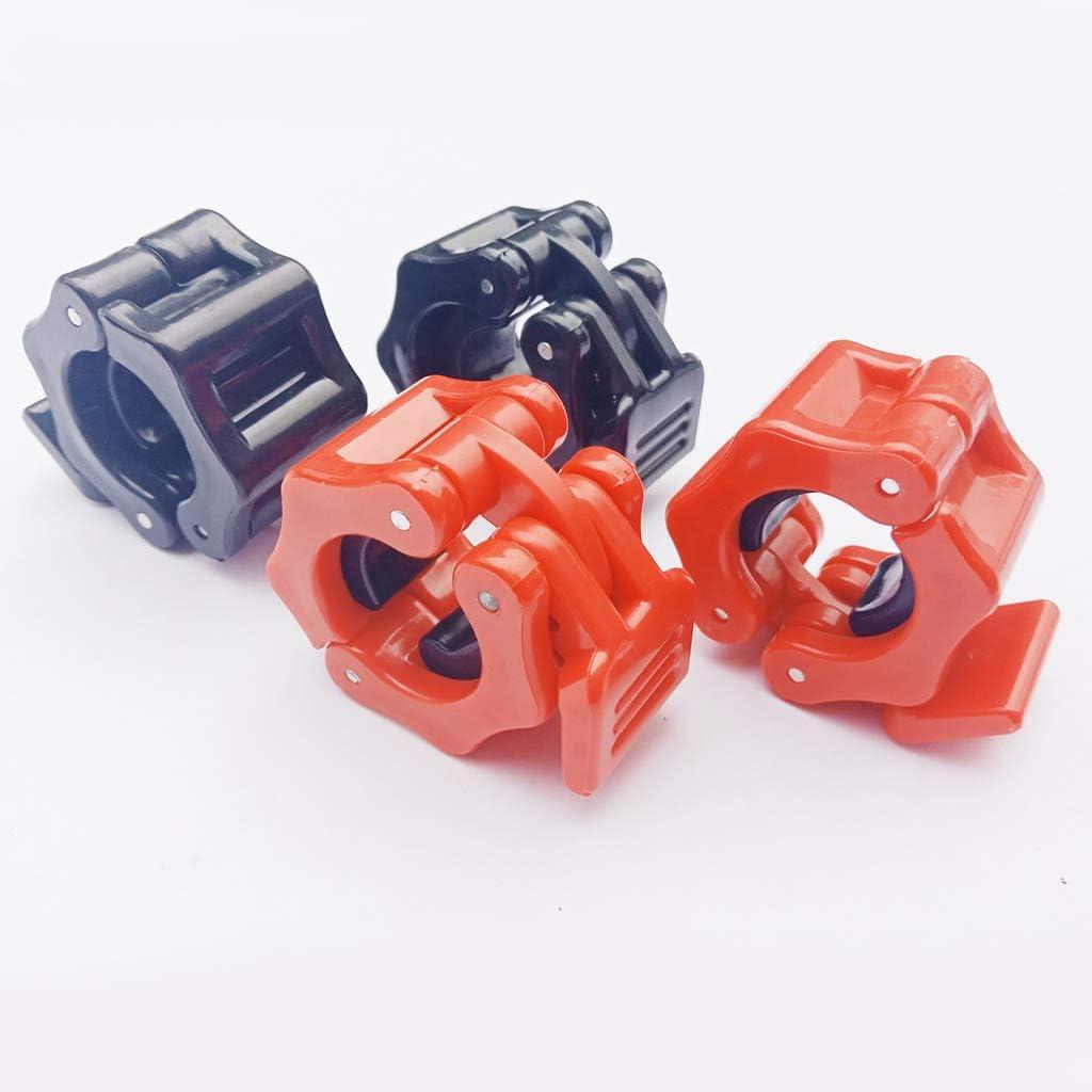 sharprepublic 2pcs//Set 24mm//25mm Stop Disques Olympiques pour Barre de Musculation Rouge Noir
