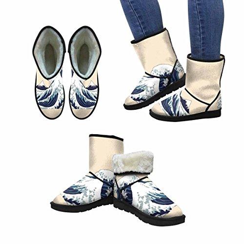 Snow Stivali Da Donna Interesse Giapponese Motivo Unico Japan Progettato Inverno Comfort Stivali Multi 1