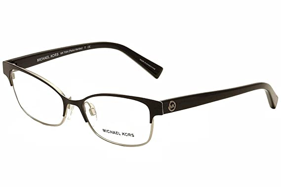 Michael Kors Eyeglasses Palos Verdes MK7004 1031 Black/Silver ...