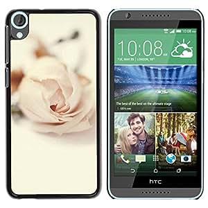 Paccase / SLIM PC / Aliminium Casa Carcasa Funda Case Cover para - Rose Vignette Pink Love Flower Petal - HTC Desire 820