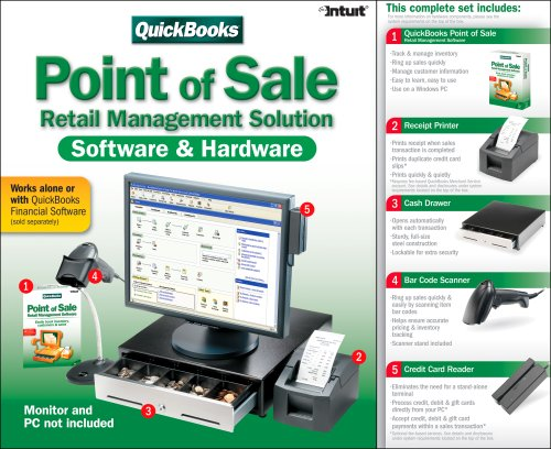 Amazon com: QuickBooks Point-of-Sale Pro with Hardware Bundle 6 0