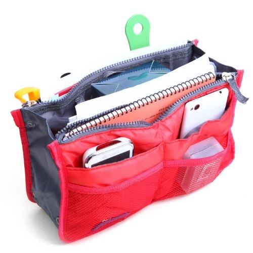 Inside Liner (HDE Expandable Handbag Insert Organizer Liner for Inside Purse Tote (Red))