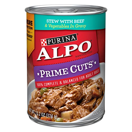 Purina ALPO Gravy Wet Dog Food; Prime Cuts Stew With Beef & Vegetables - 13.2...