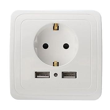 USB Enchufe with 2 x USB Puertos, Aufputz Socket Outlet con carga ...