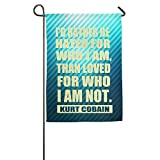 YFF Kurt Cobain Rather Be Quote Party Home Sweet Flag 12*18 Inch