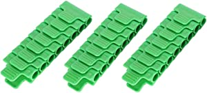 "TOPINCN 24Pcs Greenhouse Film Clamps Film Row Cover Netting Tunnel Hoop Plastic Clips Gardening Tool for 11mm/0.43"" Plant Stakes"