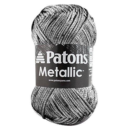 Patons  Metallic Yarn - (4) Medium Gauge  - 3 oz -  Pewter -   For Crochet, Knitting & Crafting