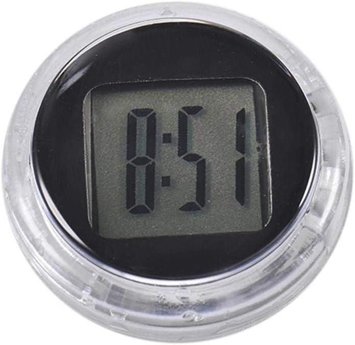 Blentude Mini Motorraduhr Aufklebbare wasserdichte elektronische Uhr Moto Digital-Uhr mit Stoppuhr