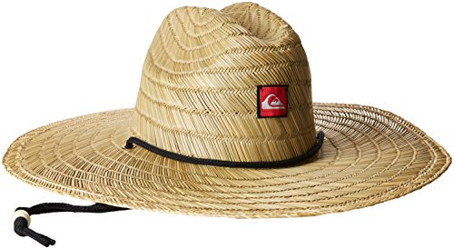 Quiksilver Young Men's Pierside Straw Hat Hat, Natural, (Mens Straw Hat)