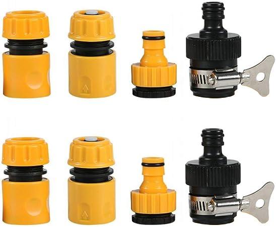 1X Messinghahn zum Schlauchanschluss Gartenwasserleitung Schnelladapter passend
