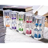 Sand Timer- Bloss Colorful Sandglass Tooth Brushing 3 Minute Hourglass for Kids and Teens Great Gift (5 Pcs)