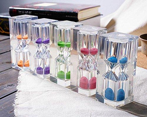 3 minutes Sandglass Sand Watch Timer Clock (Red) - 5