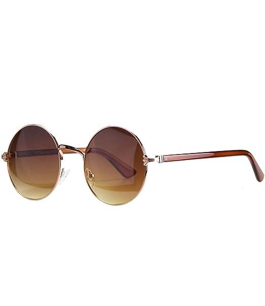 Sonnenbrille Damen Retro Stil Runde Sonnenbrille Sonnenbrille , Braun / Braun