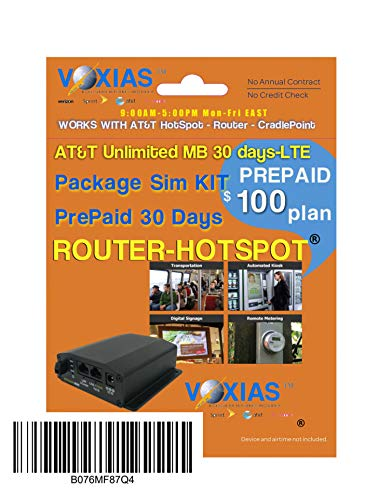Unlimited Data SIM AT&T 30 Days 4G LTE Hotspot Cradlepoint Mofi-4500 / AT&T Tripple-SIM-Card Only!
