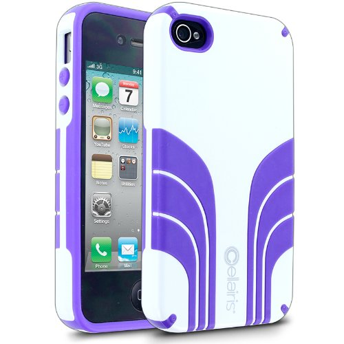 Vespa Case for Apple iPhone 4 / 4S - White / Purple