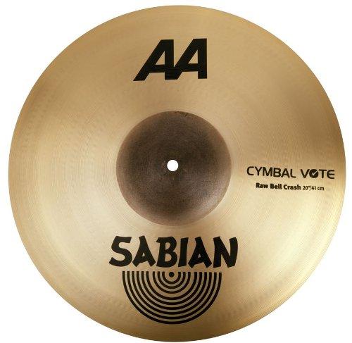 Aa Thin Crash Cymbal (Sabian 2200772 20-Inch AA Raw Bell Crash Cymbal)