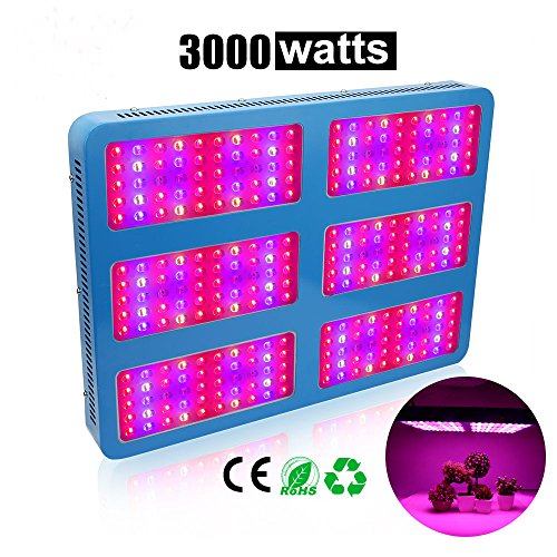 3000W LED Grow Light Full Specturm with UV&IR, EnerEco Plant Light Lamp for Indoor Plants Greenhouse Hydroponic Aquatic Veg and Flower,AC85-265V by EnerEco