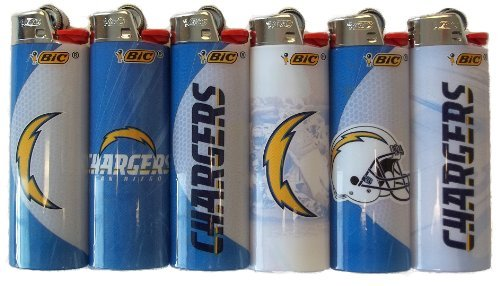 San Diego Chargers 6pc Bic NFL Lighter Set by BIC