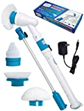 electric shower cleaner - Power Spin Scrubber Cleaning Brush - Upgraded Electric Scrubber with 3 Brush Heads, Extension Handle, Rechargeable Battery - Turbo Cordless Handheld Bathroom, Floor, Tile, Shower, Bathtub Cleaner