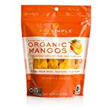Sol Simple Organic Dried Mangos 6oz, Pack of 2