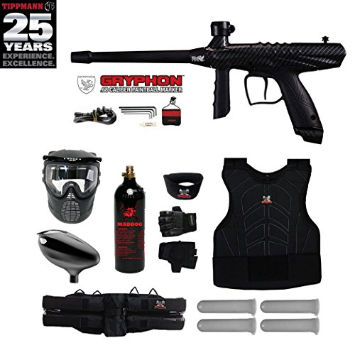 MAddog Tippmann Gryphon FX Starter Protective CO2 Paintball Gun Package - Carbon