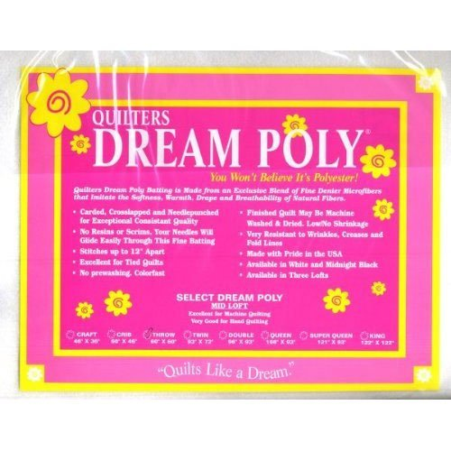 Quilters Dream Select White Poly Throw Batting by Quilters Dream