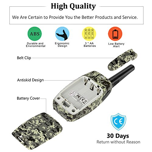 2 Way Radios Camping Accessories, Topsung M880 FRS Walkie Talkie for Adults Long Range with Mic LCD Screen / Portable Wakie-Talkie with 22 Channel for Children Hiking Hunting Fishing (Camo 2 Pack) by Topsung (Image #5)