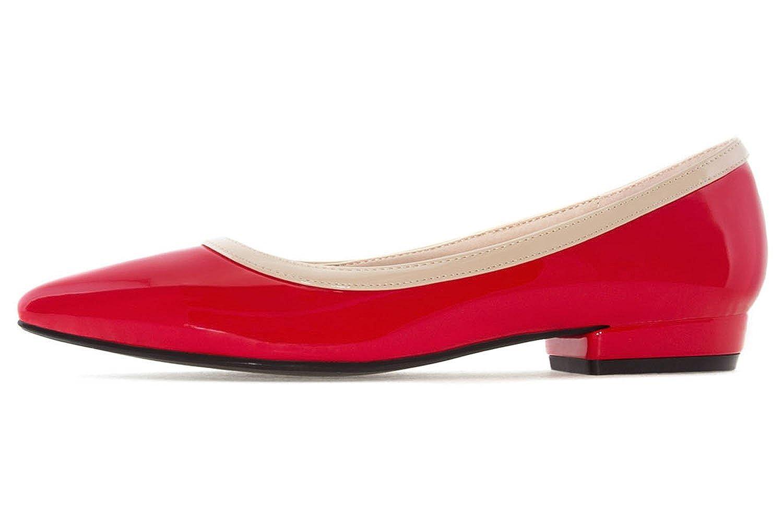 Andres Machado - Damen Lack Ballerina - Rot Schuhe in Übergrößen